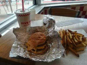 5Guys burger na Miami Beach